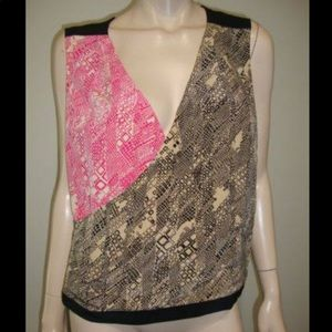 Trina Turk Silk Sleeveless Blouse M/L
